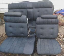 Pickup Only 1971-76 Cadillac Front/rear Black Seats Fleetwood Brougham Deville