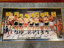 Legends Of The Ring Boxing Lithograph 11 Signatures Very Rare