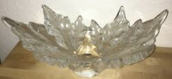 Vintage Lalique Champs Elysees Grand 18 Crystal Bowl Signed Limited Edition 710