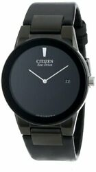 Citizen Menand039s Eco-drive Axiom Watch With Black Leather Band Au1065-07e