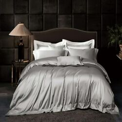 Luxury Solid Color 160s Egyptian Cotton Bedding Sheet Duvet Cover Pillowcase