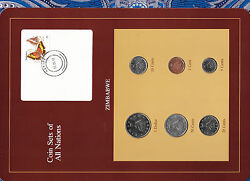 Coin Sets Of All Nations Zimbabwe W/card 1980-1991 Unc 1 1980 11020 Cent 1991