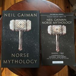 Norse Mythology By Neil Gaiman - Signed First 1st Edition Hardcover With Program