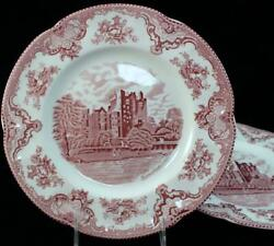 Johnson Brothers Old Britain Castles Pink 2 Dinner Plates Great Condition
