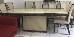 8 Seater Marble Dining Table And Chairs Not Used Much Looks New