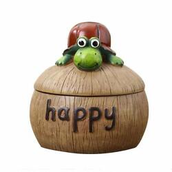 Resin Cigarette Ashtray Cute Tortoise Collectible Resin Figurines With Cover