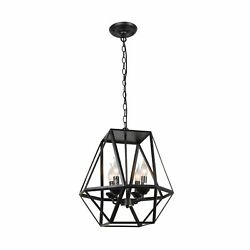 Unitary Brand Antique Black Metal Dining Room Hanging Lantern Candle Dining R...