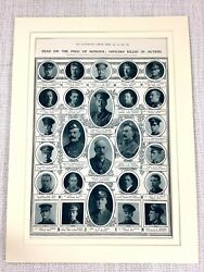 1915 Ww1 Print Fallen Soldiers Killed In Action Highland Light Infantry Memorial