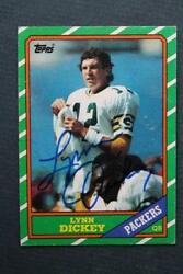 Green Bay Packers Star Lynn Dickey Signed Autographed 1986 Topps Football Card