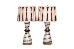 Hollywood Regency Table Lamps - A Pair