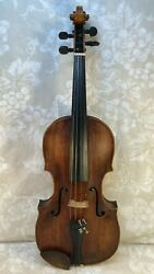Adam Friedrich Grimm Violin 1 Piece Top 2 Piece Back Late 1700s To Early 1800s