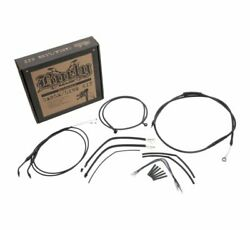 Burly Cable And Brake Line Kits Black 8in. Ape Hangers Dual Disc - B30-1272