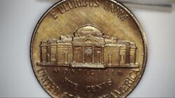 1993 D Jefferson Nickel Ms Fs Gold Toned Improperly Annealed
