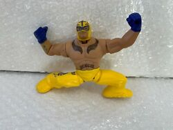 Wwe Wrestling Power Slammers Dynamite Driving Rey Mysterio Action Figure Used