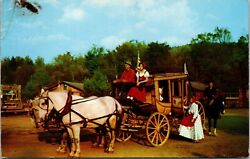 Frontier Townadirondacks New Yorkconcord Stage Coachpostcardposted 1956