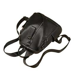 Cowhide Leather Backpack Purse for Women Mini Backpack Purses Simple Black $81.50