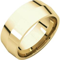 18k Yellow Gold 8mm Knife Edge Comfort Fit Wedding Band