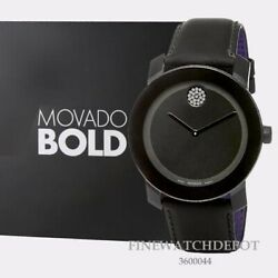 Authentic Movado Bold Mens Analog Display Black Dial Watch 3600044