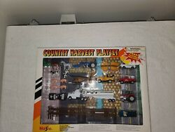 Maisto Country Harvest Playset - Police Car Helicopter Ford Farm Tractors Pickup