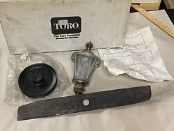 """Nos Wheel Horse 110981 End Spindle W/ Pulley + Blade 48"""" Side Discharge Deck"""