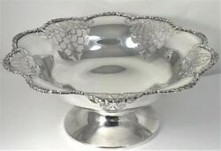 Vintage Hallmarked Sterling Silver Fruit Bowl 9andrdquoandndash1932 By Mappin And Webb 387g