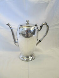 Vintage Excelsior 9 Silverplate Coffee Pot E.p.-c - Signed Scot