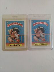 Garbage Pail Kids Series 2 50a Mad Donna And Nutty Nicole Sharp Corners