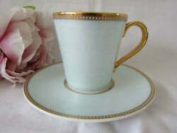 The Royal Collection Faberge English Fine Bone China Demitasse Cup And Saucer 22k