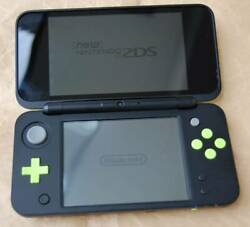 Nintendo 2ds Ll Xl Black X Lime Game Console Used Tested With Charger