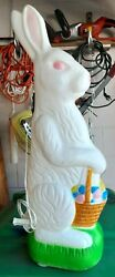 Easter Bunny Rabbit Egg Basket Don Featherstone Union Product Plastic Blow Mold