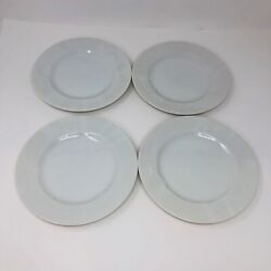 Mikasa Classic Flair 8 Salad Plates Embossed White Calla Lilies Set Of 4