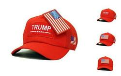 Trump Usa Patch Detachable Embroidery Hat 45th President Campaign Baseball Red