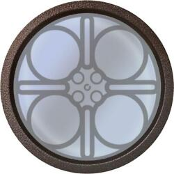 18 Inch Diameter Home Theater Vision Port Window With 7 Powder Coated Finishes