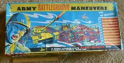 T Cohn / Superior Army Battleground Maneuvers Playset In Box With Tank Vacuform
