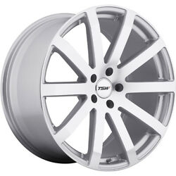 4 Staggered 19x8 / 19x9.5 Tsw Brooklands Silver 5x120 +35/+35 Wheels Rims