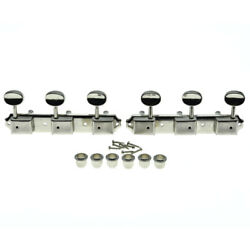 Nickel Vintage 3 On A Plate 3x3 Guitar Tuning Keys Tuners For Les Paul Sg Jr