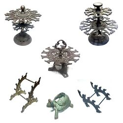 Lot Of Desk Items Pen Stand Tape Holder Seal Holders Wrought Iron Rare