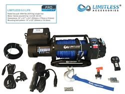 Limitless® Pro Lpr 9.5 Electric Recovery Winch 12v 9500lb Synthetic Rope