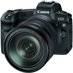 Canon Eos R With Rf 24-105mm F/4l Is Usm Kit Multi Black Ship From Eu