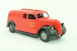 Tekno No 485 Triangle Fire Dept Fire Engine Ladder Truck - Made In Denmark