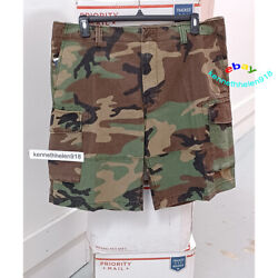 Polo Relaxed Fit 10 Cargo Shorts Camo Mens Size 32,33,34,36,38,40