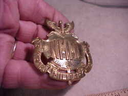 Neat. Large Nmmi New Mexico Military Institute Hat Badge-roswell Nm