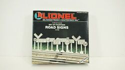 Lionel O Scale Road Signs Item 6-2180 New S5