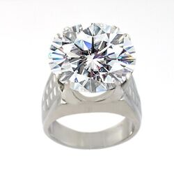 Very Elegant 7.30 Ct Off White Diamond Ring, Certified, Amazing Shine And Bling