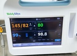 Welch Allyn 6000 Series Vital Signs Monitor With Nibp Spo2 Temp Accessories