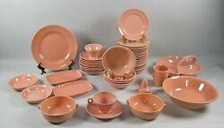 50pc Lot Of Franciscan El Patio-glossy Coral Dinnerware And Serving Pieces