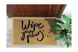 Ottomanson Rugs Collection Rectangular Door Mats Welcome Home Beige/paws 20x30
