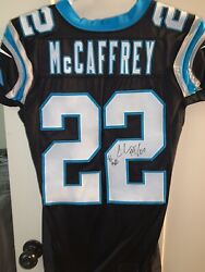 Carolina Panthers Game Issued Autographed Christian Mccaffrey Jersey