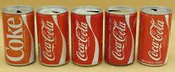 5 1980and039s Coca-cola Cans 330ml Belgium Netherlands Germany Austria Vintage