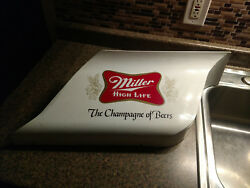 Beer Sign Miller High Life Milwaukee Wi Vintage White Large Champagne Of Beers